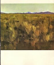 """1964 Vintage New Zealand Color Art Plate """"CENTRAL OTAGO"""" McIntyre Lithograph"""