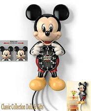 "BRADFORD EXCHANGE- ""DISNEY MICKEY MOUSE MOTION WALL CLOCK""-NEW-IN STOCK NOW!"