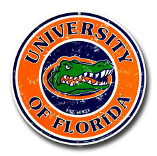 "UNIVERSITY OF FLORIDA GATORS 12"" ROUND METAL FLORIDA GATORS MAN CAVE SIGN"