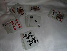 Pinochle Deck of Playing Cards, Blue & White Design
