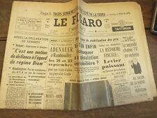 Le Figaro 4 septembre 1963 n° 5912  / régime Diem -  adenauer -  georges Braque