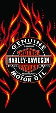 Harley Davidson Motorcycle Beach/Bath Towel 30x60 Flames/Oil. FULLY LICENSED!!!