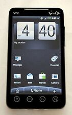 HTC EVO 4G Sprint PCS BLACK Google Android Smart Cell Phone Bluetooth PC36100 -B