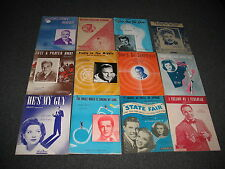 1940s Sheet Music Lot of 12 It Might as well be Spring + More!