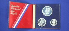 1976 U.S. Proof 40% Silver Three Piece 1776-1976 Commemorative Coin Set