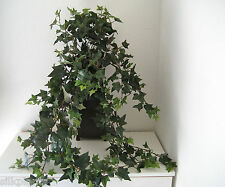 Artificial Med Sage Ivy Leaf Bush Silk Greenery Plant Home Interiors Decor~ NEW
