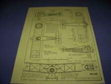 VINTAGE..1918 SOPWITH 7F.1 SNIPE..6-VIEWS/CROSS SECTIONS/COLORS..RARE! (523A)