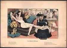 Xavier Sager. La galante pédicure. Curiosa. Vers 1910
