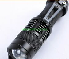 Zoomable 365nm 3W Ultraviolet AA 14500 oil blood dog piss searching flashlight