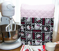 PINK Kitchen Aid MIXER Stand cover quilted LOVE HELLO KITTY FABRIC POCKET 4.5