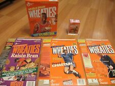 LOT OF 5 WHEATIES CEREAL BOX - JORDAN - ALI - WOODS - CHASTAIN - PALMER - MILLS