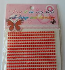 Appliques Embellishments sticky stickers red pearl 2 mm Cardmaking Scrapbooking