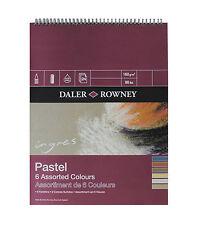 "DALER ROWNEY INGRES PASTEL SPIRAL PAD - 6 ASSORTED COLOURS: 12"" x 9"" (160gsm)"