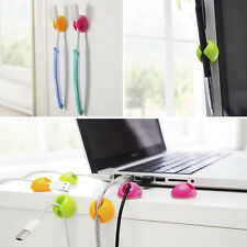 New 6 PCS Multipurpose Cable Clips Holder Organizer Wire Cord for PC