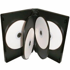 1 X 6 Way CD DVD Blu ray Case Black 22mm Spine HIGH QUALITY for 6 Discs
