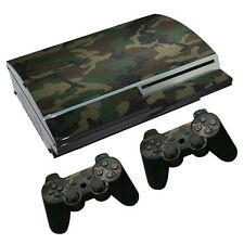 Camouflage Custom Skin Sticker Set for PS3 Playstation 3 Fat Console Controller