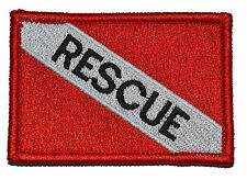 Rescue - Diver Down Scuba Flag - 2x3 Military/Morale Patch with Hook Fastener