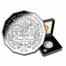 2013 AUSTRALIA-FIRSTBORN PRINCE GEORGE - 50 CENT SILVER 99.9% PROOF COIN - BOXED