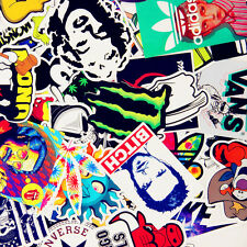 25 Skateboard Vintage Vinyl Laptop Luggage Car Decals Dope Stickers Mix Lot !