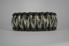 550 Paracord Survival Bracelet King Cobra Gray/Desert Foliage Camping Tactical