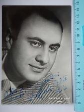 AUTOGRAFO Autograph RAFFAELE ARIE' cantante lirica teatro