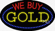"""NEW """"WE BUY GOLD"""" 27x15x1 OVAL SOLID/ANIMATED LED SIGN w/CUSTOM OPTIONS  24454"""