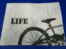 1 Pottery Barn Teen Say What Bed Dorm Pillow Sham Standard Life Bike Bicycle NEW