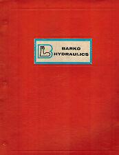 BARKO 4105  HYDRAULIC LOG LOADER OPERATION  MAINTENANCE PARTS  MANUAL