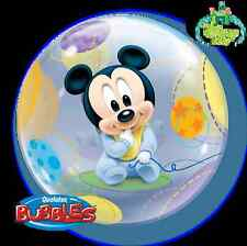 "22"" BUBBLE BALLOON ""DISNEY BABY MICKEY"" PARTY DECORATION - STRETCHY"