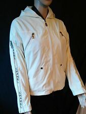 CHANEL CREAM HOODIE JACKET AUTHENTIC IN VGC SIZE L WOULD SUIT  SIZE 10/12