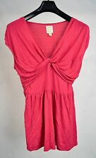 Anthropologie Ric Rac Pink Twirled Tiers Blouse Shirt Top L