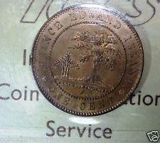 RED. Prince Edward Island Cent 1871 . KM# 4  CANADA