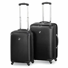 NEW Heys USA Valet 2 Piece Lightweight Luggage Set - Black  D1134-BL  MFG Sealed