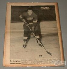 1964 Norm Ullman Red Wings La Patrie Printed Photo