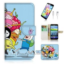 Samsung Galaxy S5 Flip Phone Case Cover PB10985 Adventure Time