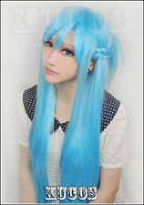 Sword Art Online Asuna Yuuki Braided Cosplay Wig Light Blue Synthetic Hair Wigs