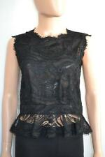 Emilio Pucci Black Lace Sleeveless Top Size 44