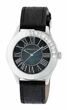 BCBG Womens Black and Silver Mother of Pearl Watch_ Brand New In Box