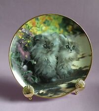 Kitty Cat Sitting Pretty COLLECTOR PLATE, Franklin Mint Collector Plate, Plates