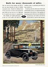 Old Print. 1930 Ford Model A Sport Coupe Automobile Advertisement