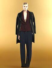 $1195 NEW Authentic Gucci Loose Pants w/Waist Belt, Blue, 38, 293089