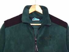 Rolling Rock Beer green fleece zip jacket / removable sleeves / fits as M / b10