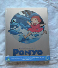 NEW Studio Ghibli Ponyo Blu-Ray & DVD Steelbook Region B Locked Hayao Miyazaki