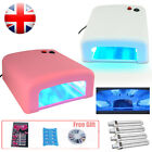 9W 36W UV Gel Nail Art Lamp Dryer Manicure Light Curing Timer 4x 9W Bulbs + Gift