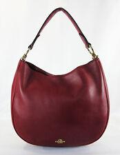 COACH 36026 Nomad Black Cherry Glovetanned Leather Hobo Shoulder Bag Msrp$495.00