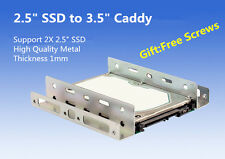 """2.5"""" SSD Hard Drive to 3.5"""" Drive Bay Adapter Bracket HDD Converter Caddy Tray"""