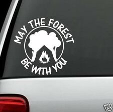 F1008 May The Forest Funny Camper Camping Decal Sticker Truck SUV Van Tent Wall