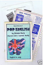 45 RPM MICHELE MARIE LAURENT VOULZY PATRICK CLERC POP ENGLISH BOOK 1