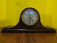 Vintage HAMILTON SANGAMO Synchronous Electric Mantel Shelf Wooden Clock S-502