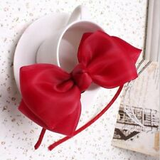 Lovely Girls Baby Toddler Cute Flowers Headband Ribbon Hair Bow Band Accessories